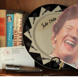Judith Dunbar Hines has a collection of Julia Child books and memorabilia at her home. John J. Kim - Sun-Times