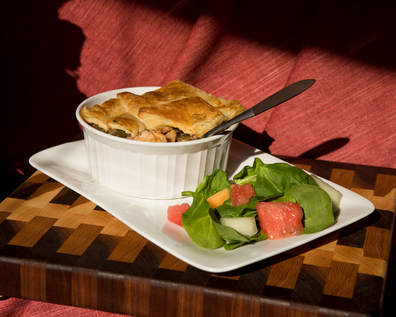 A vegetable pot pie.