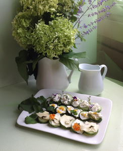 Edible Gardens Cucumber Sandwiches